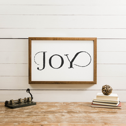 Wood Framed Signboard - Joy - Multiple Sizes