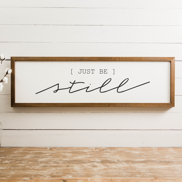 Wood Framed Signboard - Just Be - Multiple Sizes