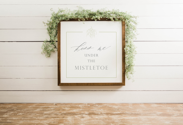 Wood Framed Signboard - Kiss Me - Multiple Sizes