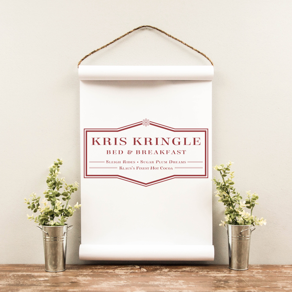 Wall Scroll - Kris Kringle - Multiple Sizes