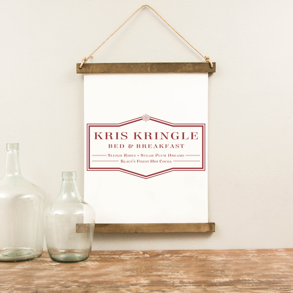Canvas Hanging Print - Kris Kringle