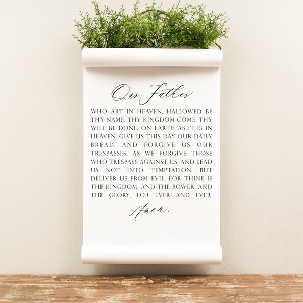 Wall Scroll - Lord's Prayer - Multiple Sizes