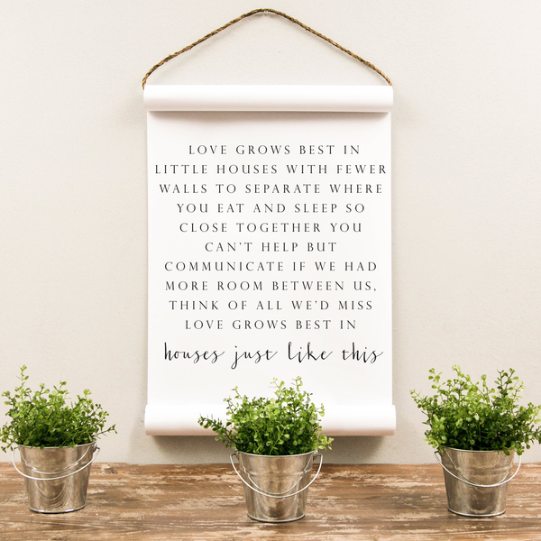 Wall Scroll - Love Grows Best - Multiple Sizes