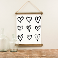 Canvas Hanging Print - Love Hearts [CLOSEOUT]
