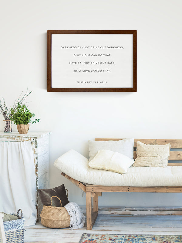 Smallwoods Martin Luther King Jr Quote Sign Medium Horizontal Stained