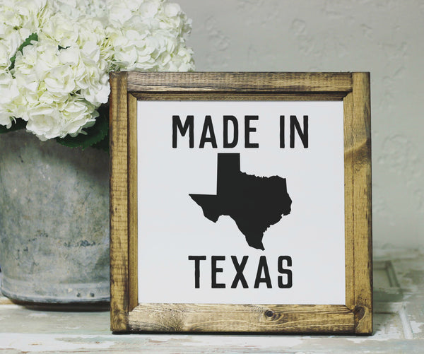 Smallwoods - WOOD FRAMED SIGNS - Wood Framed Signboard - Made in Texas- S - 14x14