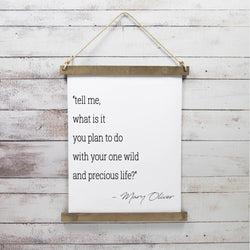 Canvas Hanging Print - Mary Oliver