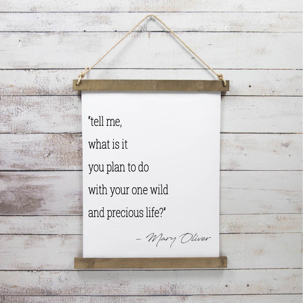 Canvas Hanging Print - Mary Oliver [CLOSEOUT]