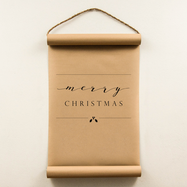 Wall Scroll - Modern Merry Christmas - Regular Size