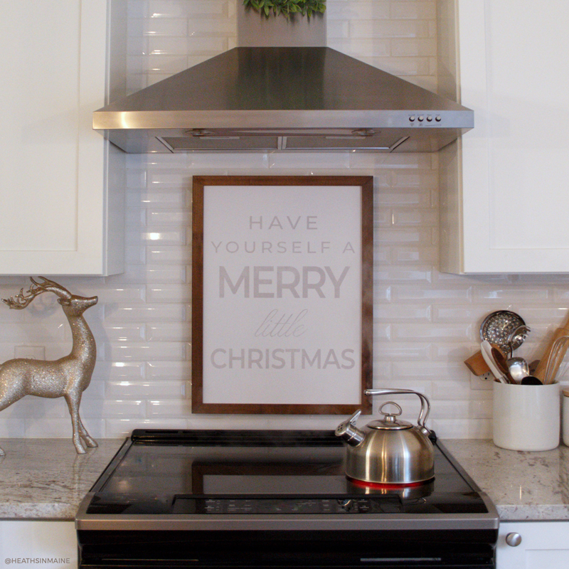 Wood Framed Signboard - Merry Little Christmas - Multiple Sizes [HOLIDAY18]