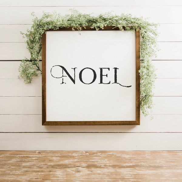 Wood Framed Signboard - Noel - Multiple Sizes