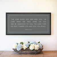 Smallwoods Numbers 6: 24-26 The Lord Bless You and Keep You Sign XL Horizontal Black