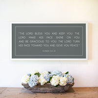 Smallwoods Numbers 6: 24-26 The Lord Bless You and Keep You Sign XL Horizontal White