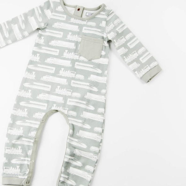 Everyday Essentials - Layette - Grey Trains FINAL SALE