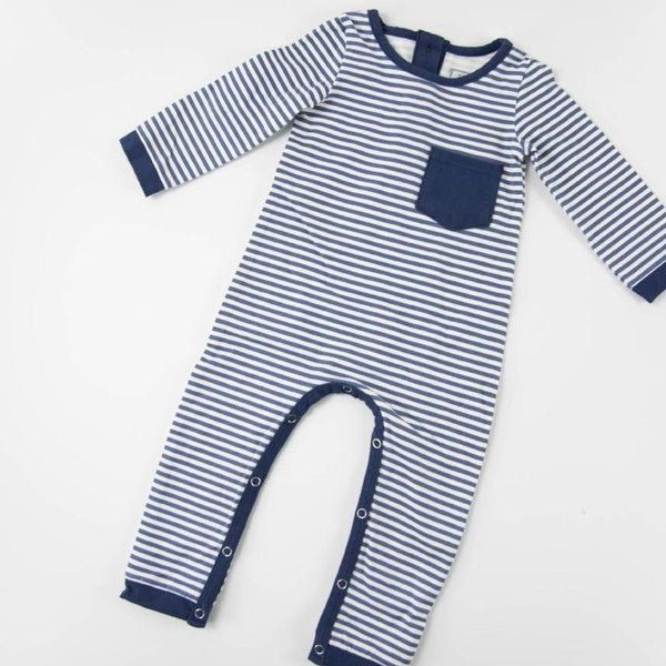Everyday Essentials - Layette - Tiny Navy Stripe FINAL SALE