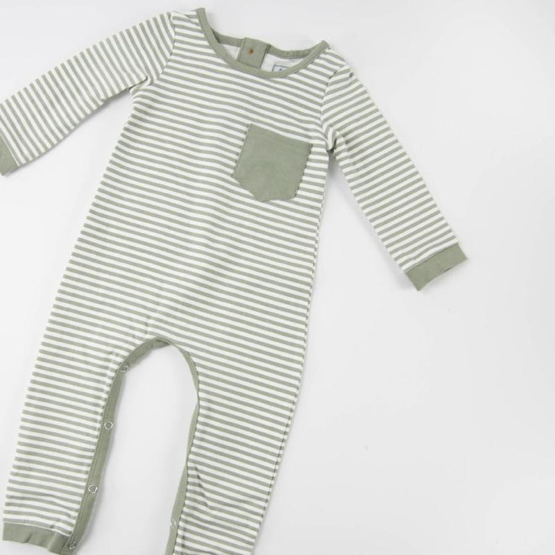 Everyday Essentials - Layette - Tiny Olive Stripe FINAL SALE