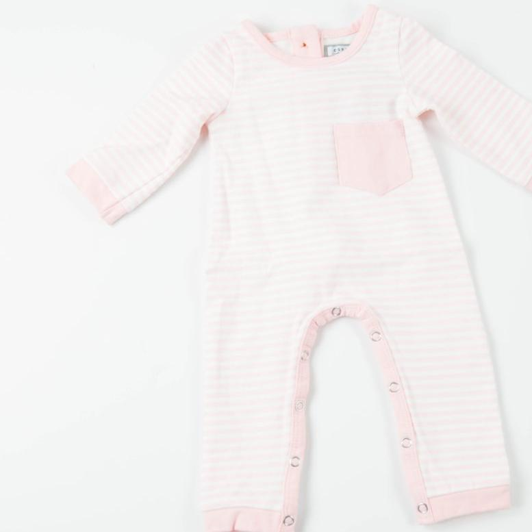 Everyday Essentials - Layette - Tiny Pink Stripe FINAL SALE
