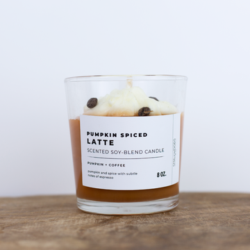 SALE - Pumpkin Spice Latte Candle - 8 oz