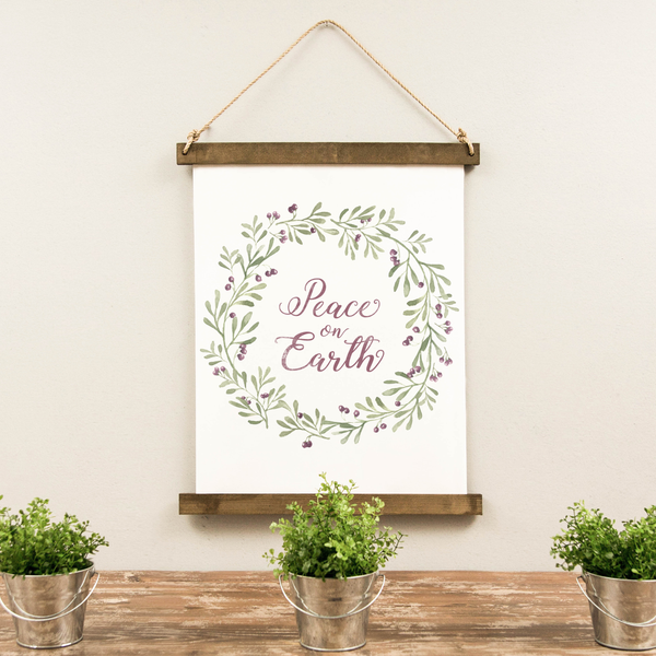 Canvas Hanging Print - Peace On Earth [HOLIDAY18]