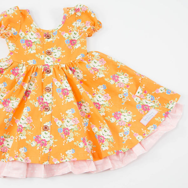 SweetHoney - Prim Dress - Apricot Jam