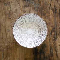 Rustic Flare Bowl, Cream