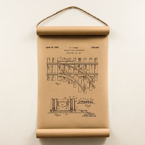 Wall Scroll - Railroad Patent - Regular Size