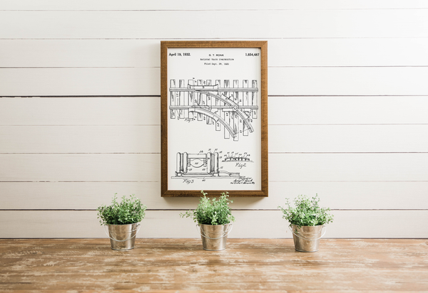Wood Framed Signboard -Railroad Patent