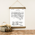Canvas Hanging Print - Railroad Patent [CLOSEOUT]