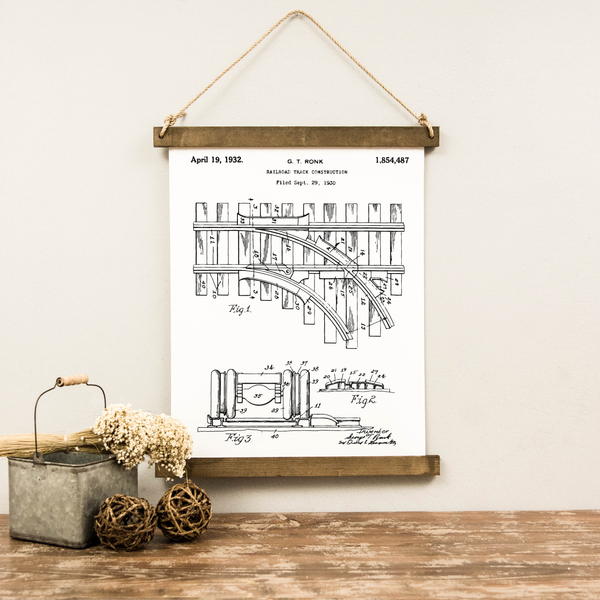 Canvas Hanging Print - Railroad Patent