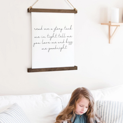 Canvas Hanging Print - Read Me A Story