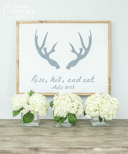 Smallwoods - WOOD SIGNS - Wood Signboard - Rise, Kill, Eat  - 2