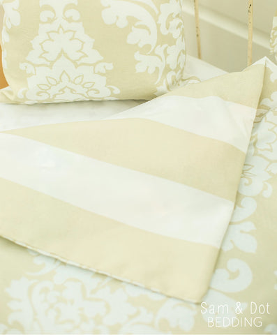 Sam & Dot - Bedding - Sam & Dot Nap Mats/Crib Duvets - Khaki Damask