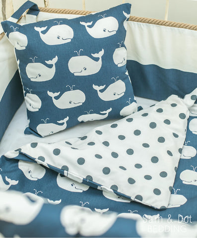 Sam & Dot - Bedding - Sam & Dot Nap Mats/Crib Duvets - Whales