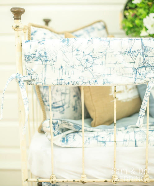 Sam & Dot - Bedding - Sam & Dot Crib Rail Covers - Nautical  - 4