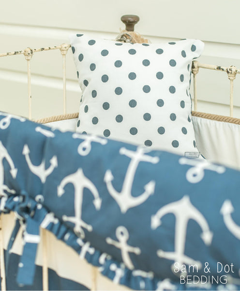 Sam & Dot - PILLOW/BEDDING - Sam & Dot Square Pillow Sham - Anchors with Dots  - 2