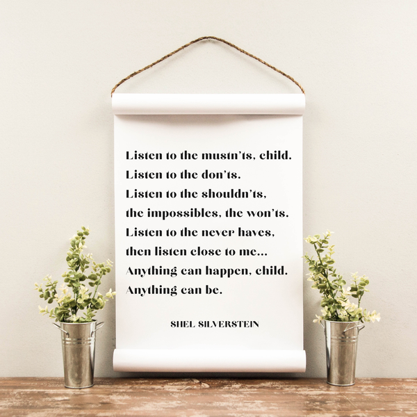 Wall Scroll - Shel Silverstein - Multiple Sizes