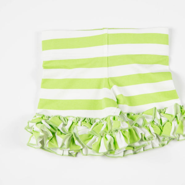 SweetHoney - Game Day Shorties - Big Green Stripe