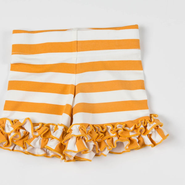 SweetHoney - Game Day Shorties - Big Orange Stripe