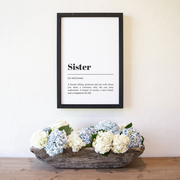 Smallwoods Sister Definition Sign and Word Art
