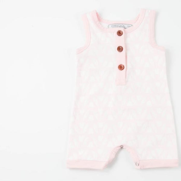 Everyday Essentials - Short-all - Pink Tulips FINAL SALE