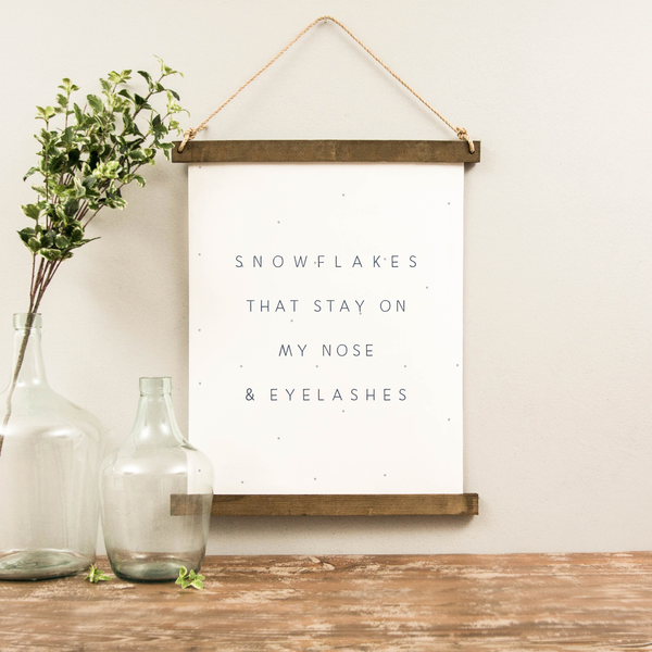 Canvas Hanging Print - Snowflakes