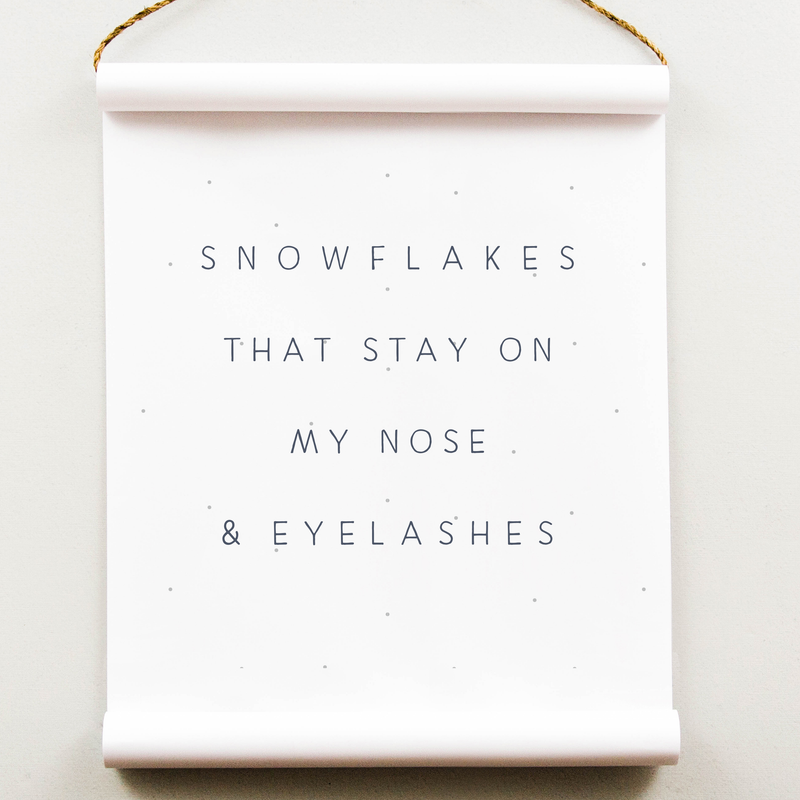 Wall Scroll - Snowflakes - Multiple Sizes