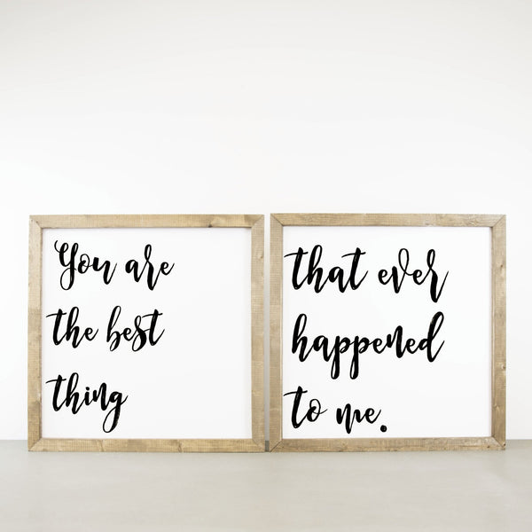 Wood Framed Signboard - The Best Thing - SQ [DUO]