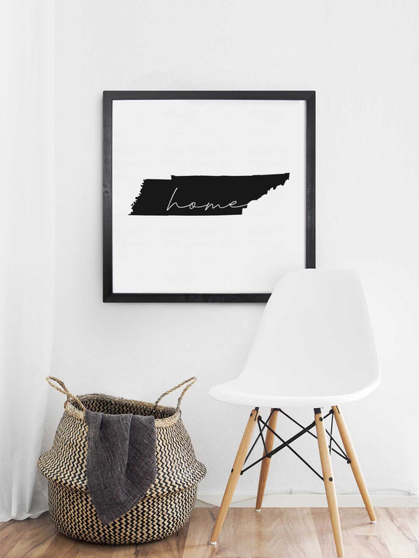 Wood Framed Signboard - Home State - Multiple Sizes - Black