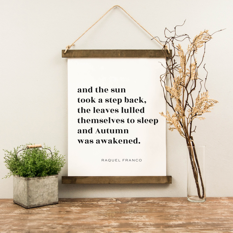 Canvas Hanging Print - The Sun Took A Step Back