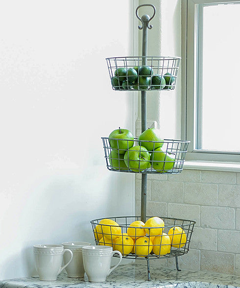 Smallwood Home - Resale - Three Tier Wire Basket Display Stand  - 1