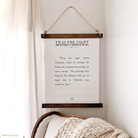 Canvas Hanging Print - Twas The Night Before Christmas [HOLIDAY]