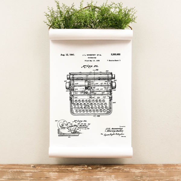 Wall Scroll - Typewriter Patent