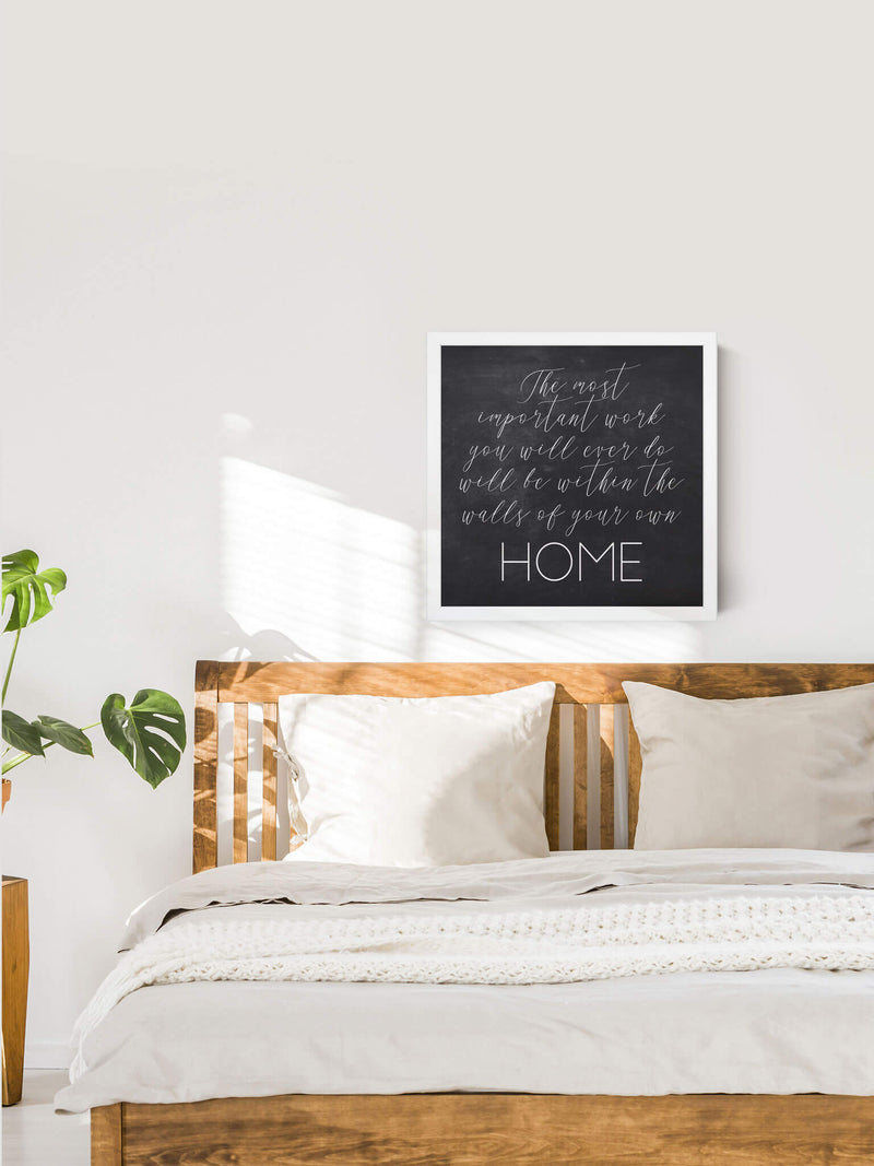 Wood Framed Signboard - Walls of Your Home