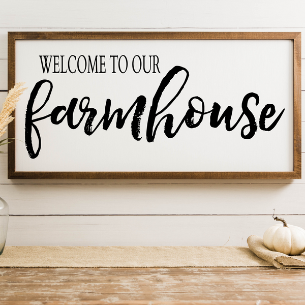 Wood Framed Signboard - Farmhouse - XL